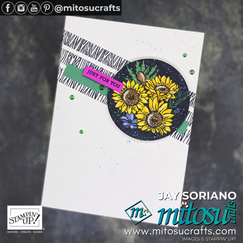 Stampin Up Jar of Flowers Coloured In Stampin Blends Markers Card Ideas | Mitosu Crafts UK by Barry Selwood & Jay Soriano